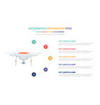 drone infographic template concept with five vector image