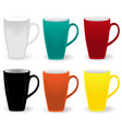 elegant colored cups vector image