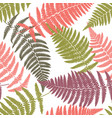 fern tropical seamless pattern vector image vector image
