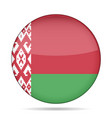 flag of belarus shiny round button vector image