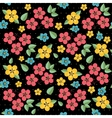 floral pattern retro seamless vector image vector image