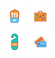 free travel icons vector image vector image