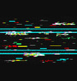 glitch distortion template vhs background with vector image vector image
