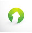 green arrow upward vector image