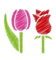 handwriting flower pictures vector image vector image