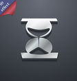 hourglass icon symbol 3D style Trendy modern vector image