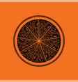 icon of orange vector image vector image