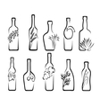 Icons alcoholic beverages vector image vector image