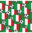 italy football pattern vector image vector image