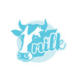 logo is silhouette head a cow vector image