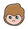 man face with expression and hairstyle vector image vector image