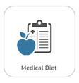 medical diet flat icon vector image vector image
