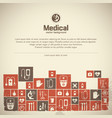 medical help background vector image vector image