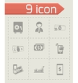 mobile banking icons set vector image vector image