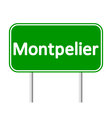 Montpelier green road sign vector image vector image