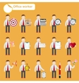 office worker - business sketches vector image vector image