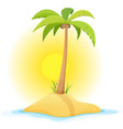 palm tree on tropical desert island vector image vector image
