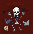 Playful skeleton vector image vector image
