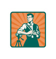 Retro Photographer Icon vector image vector image