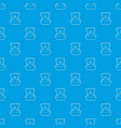 ring pattern seamless blue vector image vector image