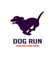 run dog logo design template vector image vector image
