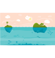 Sea game background vector image vector image