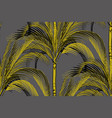 seamless pattern tropical palm silhouettes on a vector image vector image