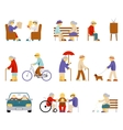 Senior lifestyle icons vector image vector image