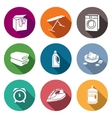 Services Dry Cleaning Icons Set vector image vector image