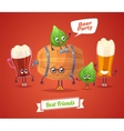 Set of beer characters cute cartoons vector image vector image