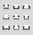 Set of black and white armchairs vector image vector image