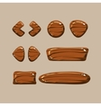 Set of Cartoon Wooden Buttons vector image vector image