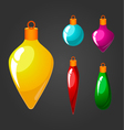 set of Christmas toys vector image