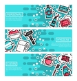 Set of Horizontal Banners about personal hygiene vector image vector image