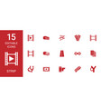 strip icons vector image vector image
