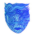 surreal abstract goddess water with face in vector image