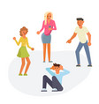 teens are mocking for sad teenage boy vector image vector image