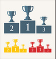 trophy and awards retro vintage collection 4 vector image vector image