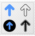 up arrow eps icon with contour version vector image
