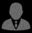 white dotted boss icon vector image vector image