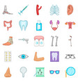 women health icons set cartoon style vector image vector image