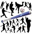 collection of baseball vector image