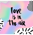 Romantic memphis card vector image