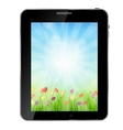 A ecologic abstract Tablet PC vector image vector image