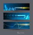 abstract banners set 3-8-17 2 vector image vector image