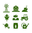 agriculture industry and gardening icons vector image