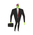 Alien businessman UFO boss Martian in business vector image vector image