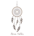 american indians amulet dream catcher vector image