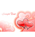 Beautiful heart background design vector image