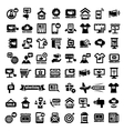 big advertising icons set vector image vector image
